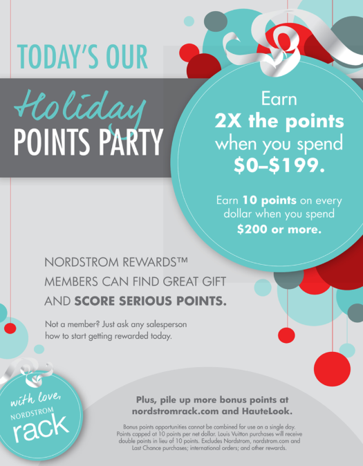 Nordstrom Rack Holiday Event Invitation